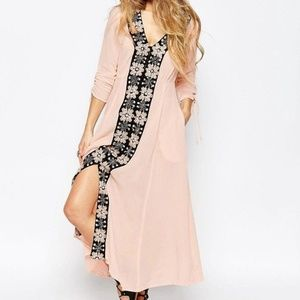 Free People Journey Horizon Embroidered Dress